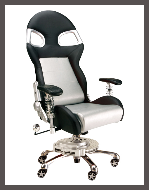 Pitstop Furniture Silver Lxe Office Chair Racer Id Media
